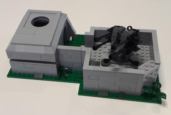 Bluebrixx bunker flak position