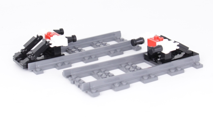 Bluebrixx Special track bumpers with rails