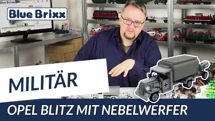 Youtube Bluebrixx Special Opel Blitz with smoke mortar