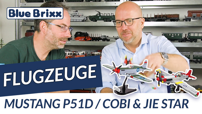 Youtube BlueBrixx P-51D Cobi vs. Jie Star
