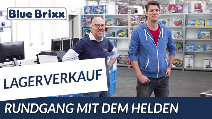 Youtube: Lagerverkauf bei BlueBrixx - Rundgang mit dem Helden der Steine!