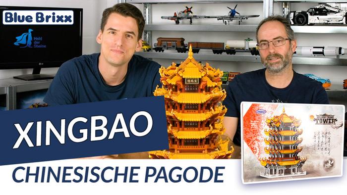 Youtube: Chinesische Pagode von Xingbao @ BlueBrixx - Micha baut, der Held der Steine schaut!