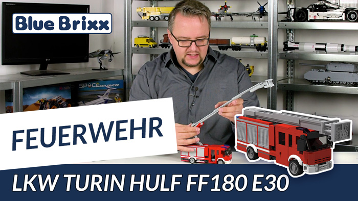 Youtube: Feuerwehrfahrzeug HULF von BlueBrixx