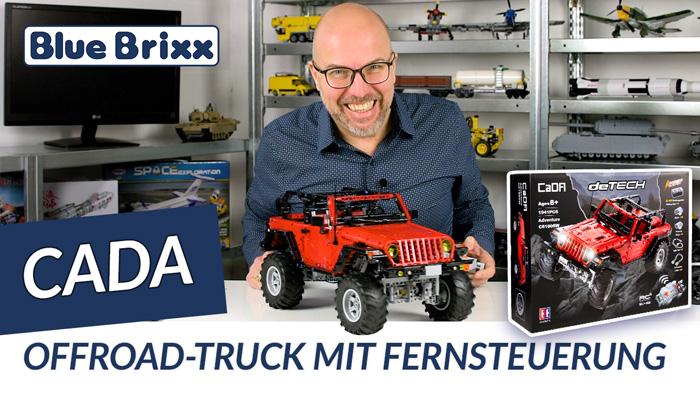 Youtube: Offroad-Truck mit Fernsteuerung von CaDA @ BlueBrixx - mit Testfahrt!