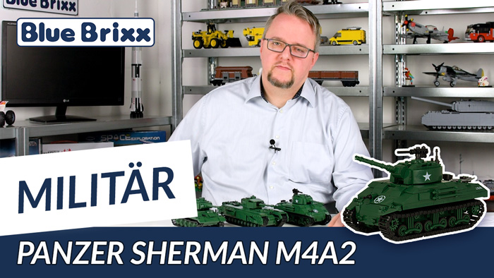 Youtube: US-Panzer Sherman M4A2 von BlueBrixx