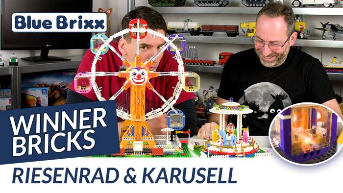 Riesenrad und Karussell von Winner Bricks @ BlueBrixx - mit dem Helden der Steine!