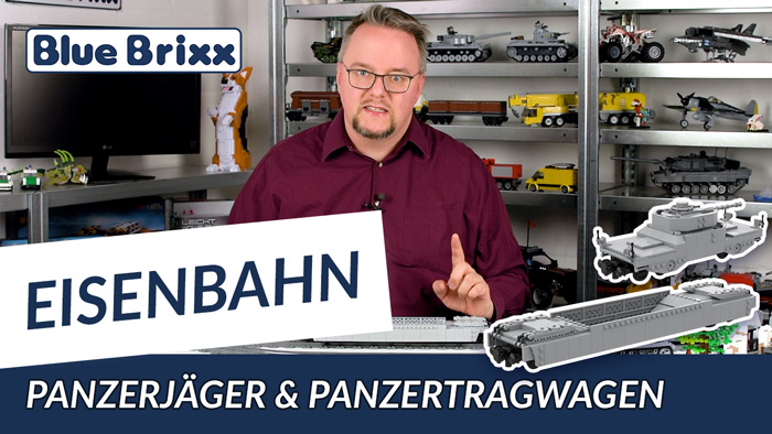 Youtube: Panzerzug Panzerjäger & Panzertragwagen Typ 1 von BlueBrixx