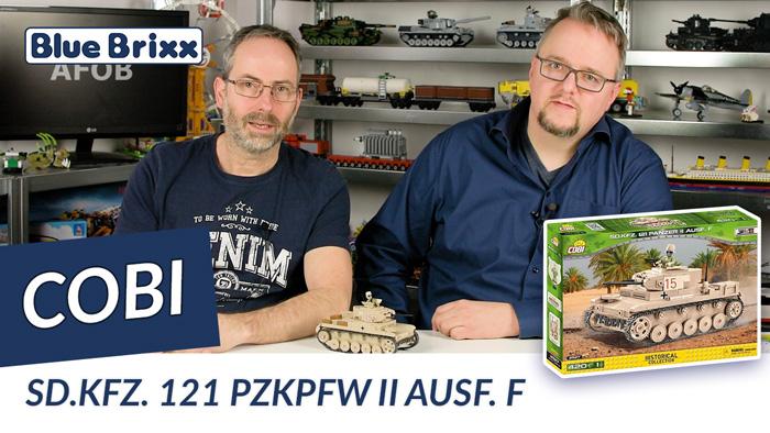 Youtube: Panzer II Ausf. F von Cobi @ BlueBrixx