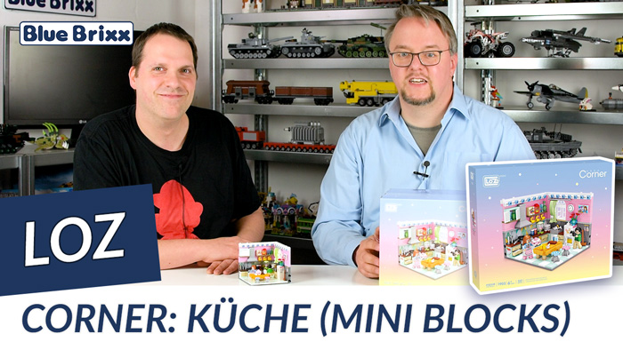 Youtube: Corner - Küche von LOZ aus Mini Blocks @ BlueBrixx