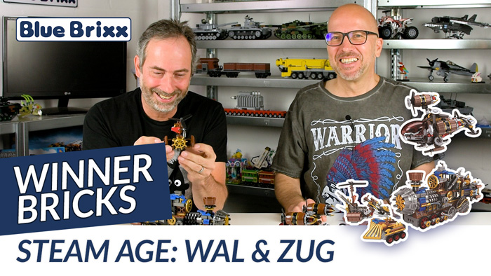 Youtube: Steam Age Wal & Zug von Winner Bricks @ BlueBrixx