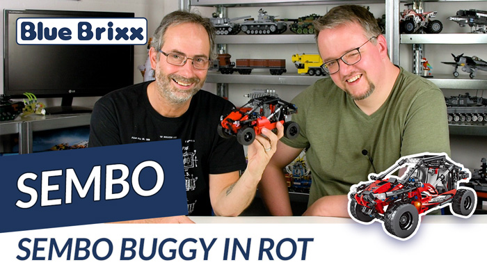 Youtube: Buggy in rot mit Pullbackmotor von Sembo @ BlueBrixx