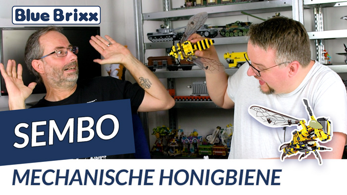 Youtube: Mechanische Honigbiene von Sembo @ BlueBrixx