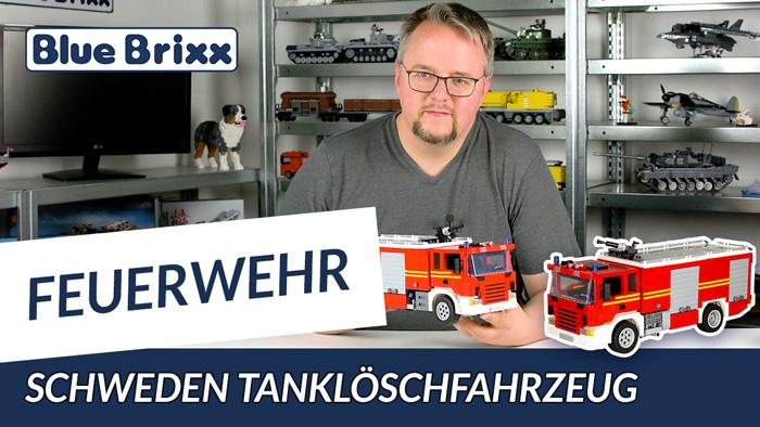 Youtube: Tanklöschfahrzeug im Maßstab 1:20 von BlueBrixx - 2.000 Teile Feuerwehr!