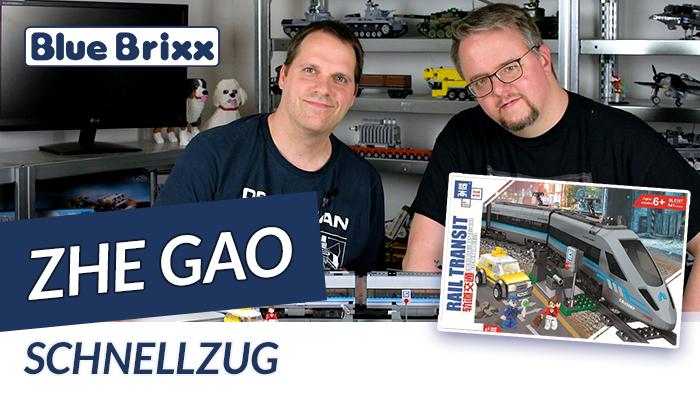 Youtube: Schnellzug von Zhe Gao @ BlueBrixx - mit Motor und Schienenoval!