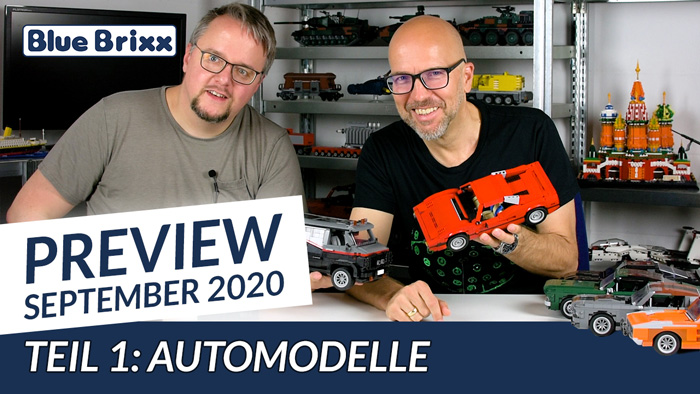 Youtube: Preview-Special September 2020 - Teil 1: Automodelle @ BlueBrixx