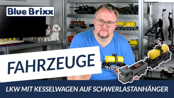 Youtube: LKW mit Kesselwagen auf Schwerlastanhänger von BlueBrixx