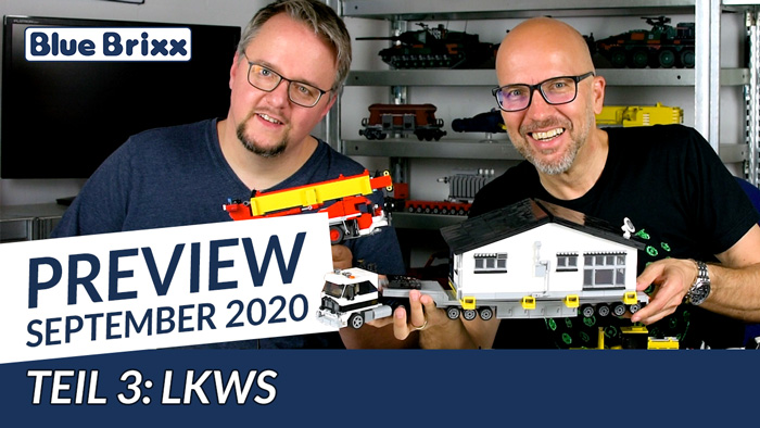 Youtube: Preview-Special September 2020 - Teil 3: LKW @ BlueBrixx