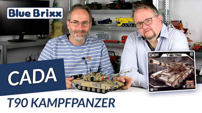 Youtube: Kampfpanzer T90 von CaDA @ BlueBrixx