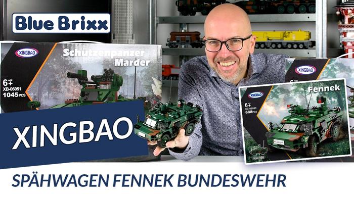 Youtube: Bundeswehr Spähwagen Fennek von Xingbao @ BlueBrixx
