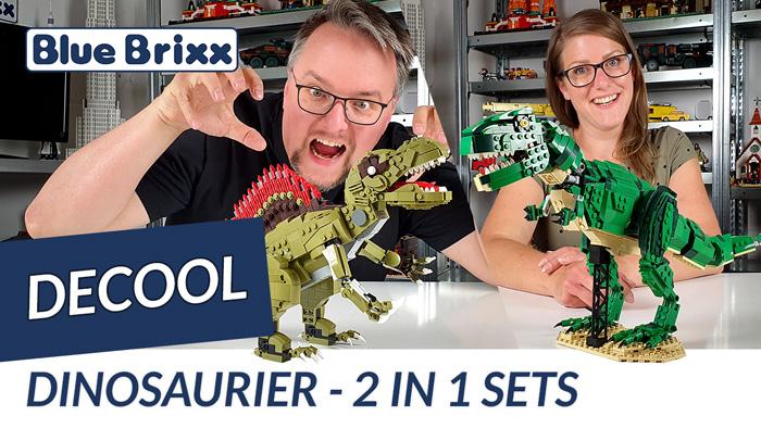 Youtube: Tyrannosaurus & Spinosaurus von Decool @ BlueBrixx - zwei 2in1-Sets!