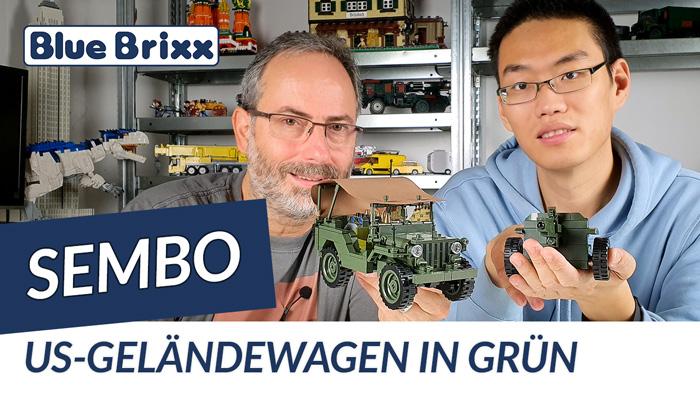 Youtube: US-Geländewagen in grün von Sembo @ BlueBrixx