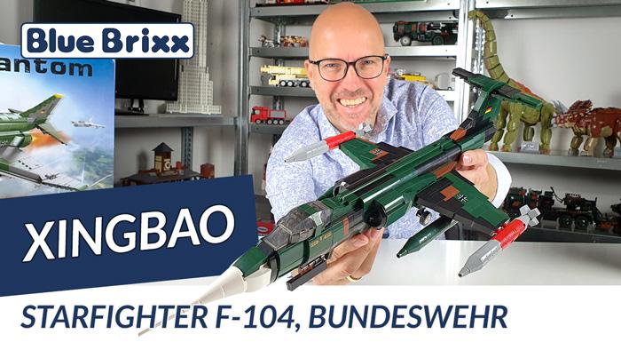 Starfighter F 104, Bundeswehr von Xingbao @ BlueBrixx - das erste Flugzeug aus der Bundeswehr-Serie!