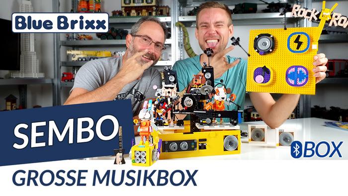Musikbox mit Bluetooth Lautsprecher von Sembo @ BlueBrixx - Rock 'n' Roll im Noppensteinstudio!