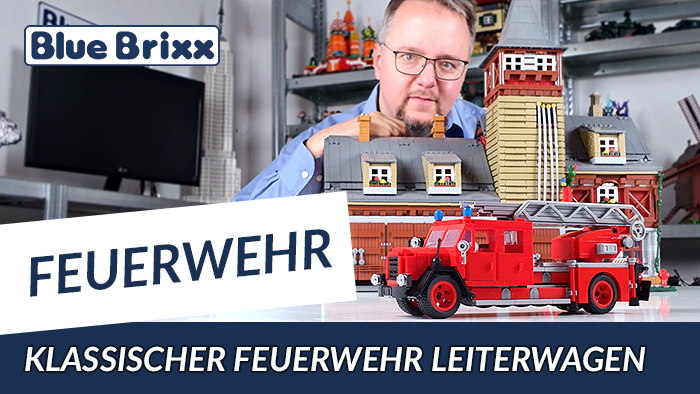 Youtube: Klassischer Feuerwehr-Leiterwagen von BlueBrixx