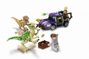 Dinosaurs with car