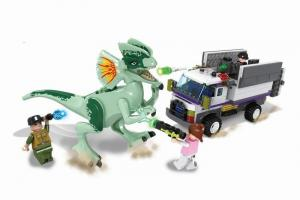 Dinosaurs with truck