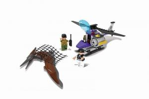 Dinosaurs with Helicopter