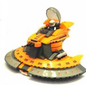Space Ship Orange Circle