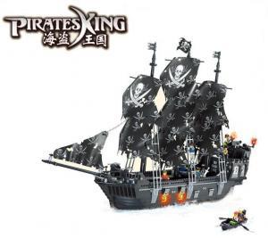 Big black Pirates Ship