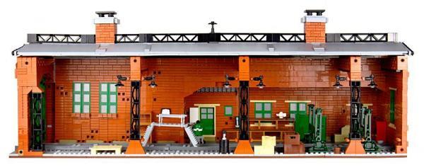 Locomotive shed