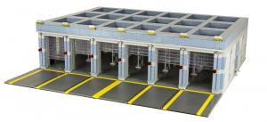 Moderne Feuerwehrstation Fahrzeughalle