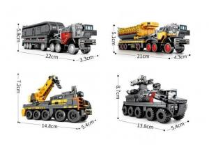 Wandering Earth trucks, set of 4