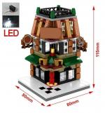 Mini Street City with LED Light, 4 in 1 Set