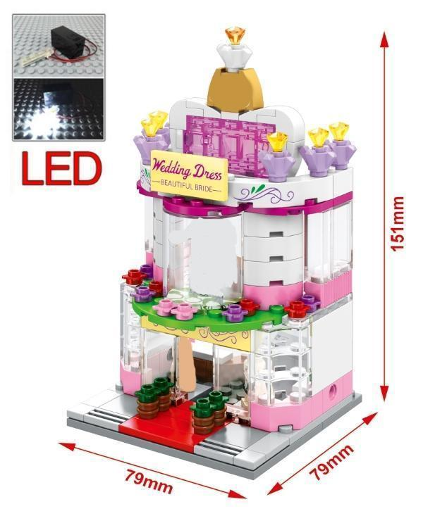 Mini Street Restaurant with LED Light