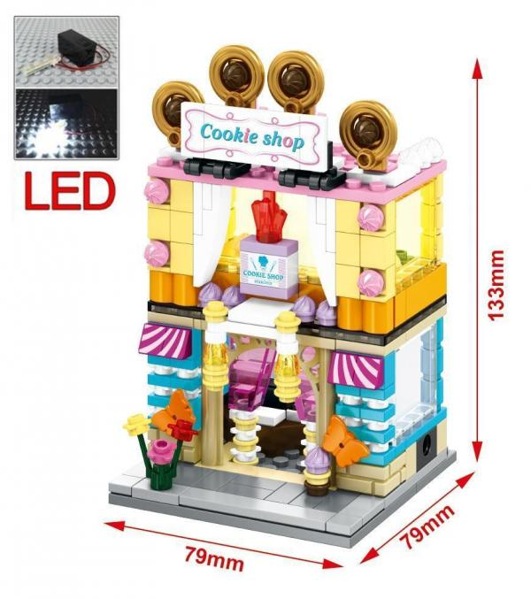 Mini Street View with LED Light, 4 in 1 Set