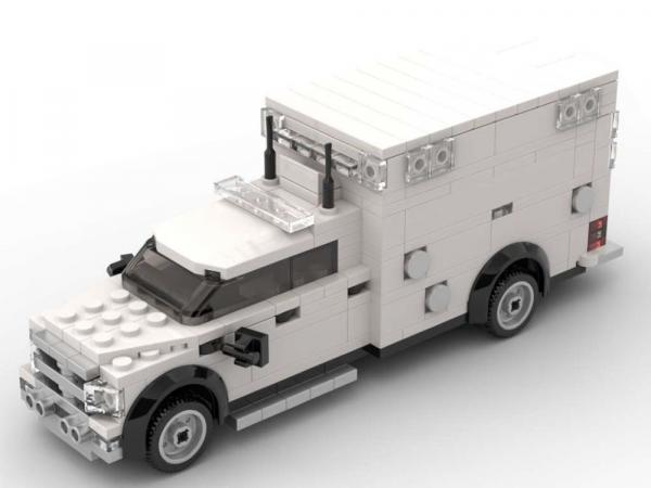 Police Ambulance in white