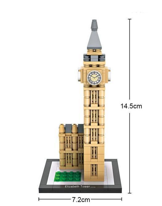 Big Ben, London, Great Britain (mini blocks)
