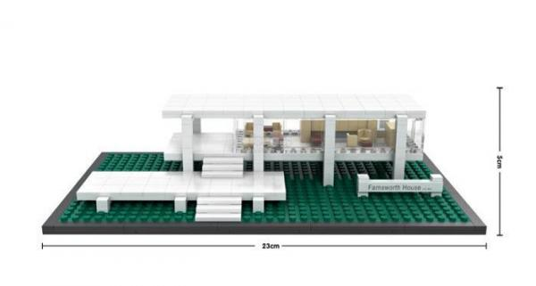 Farnsworth House, USA (mini blocks)