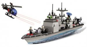 Battle Ship with Helicopter