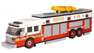 Fire truck Commander Heavy Rescue red/white