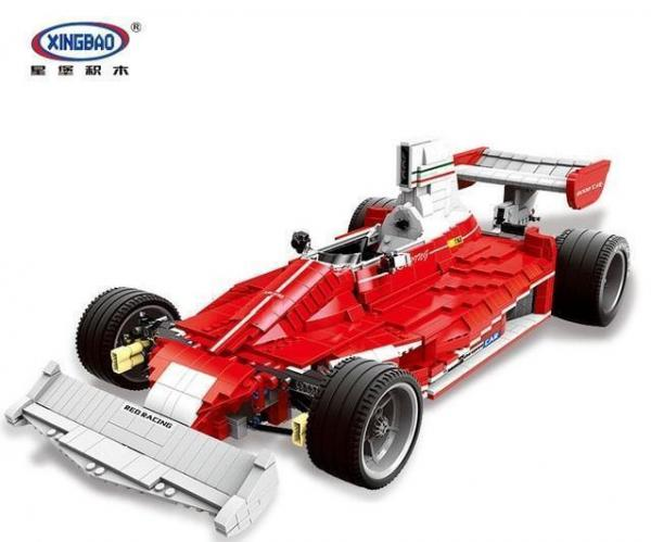 The Red Power Racing Car