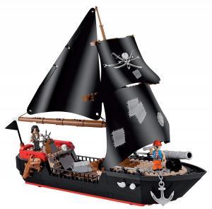 Corsair Ship, Schwarz, Braun, Beige, Rot