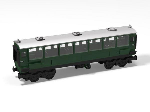 Personenwagen, grün, lang