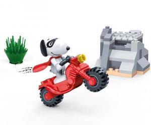 Snoopy Motorrad Stuntshow