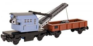 Crane wagon with stanchion wagon