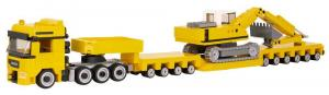 Truck Augsburg 4-Axle with Excavator